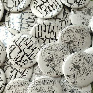 """Pinhead"""" hanging pin and button display – Shop Hellabay"""